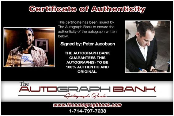 Peter Jacobson proof of signing certificate