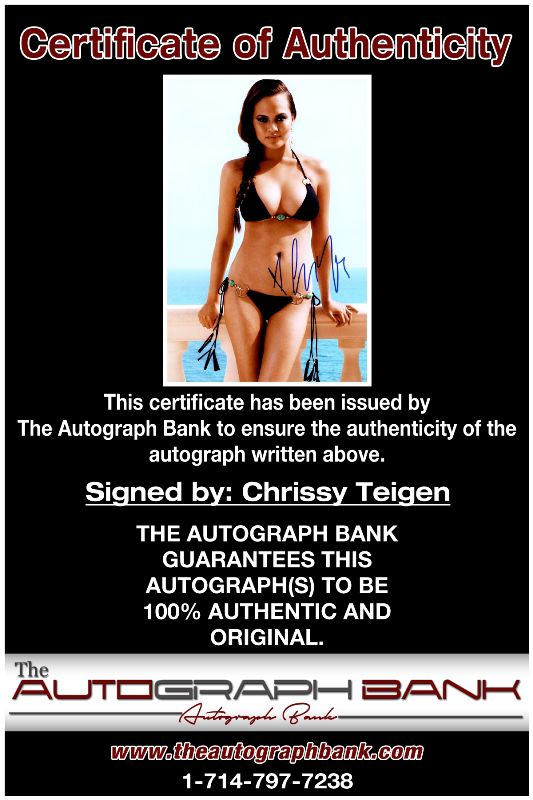 Chrissy Teigen proof of signing certificate