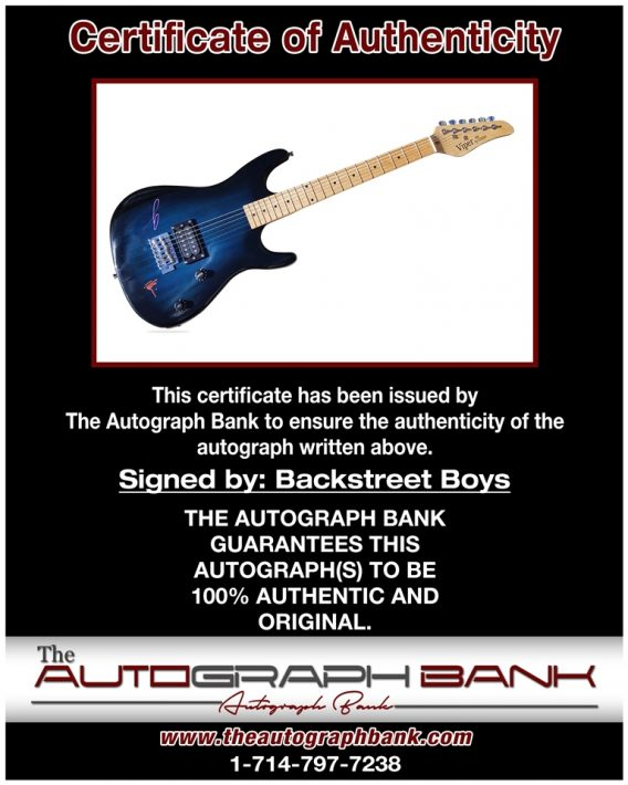 Backstreet Boys proof of signing certificate