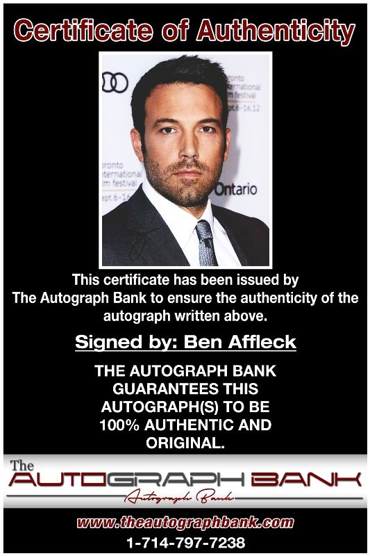 Ben Affleck proof of signing certificate