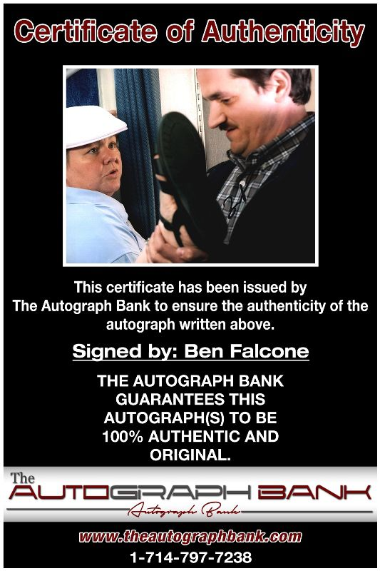 Ben Falcone proof of signing certificate