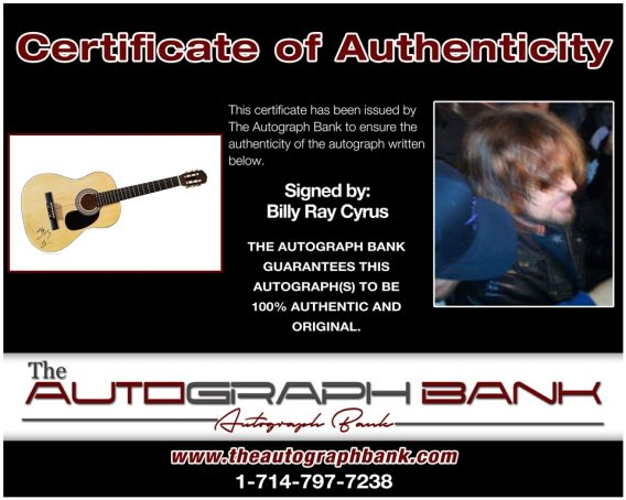 Billy Ray Cyrus proof of signing certificate