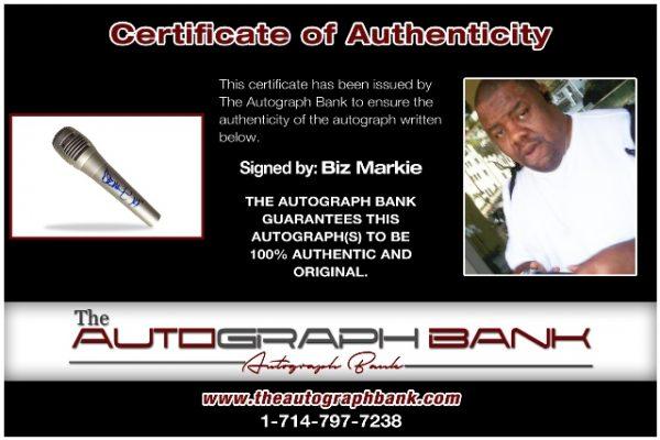 Biz Markie proof of signing certificate