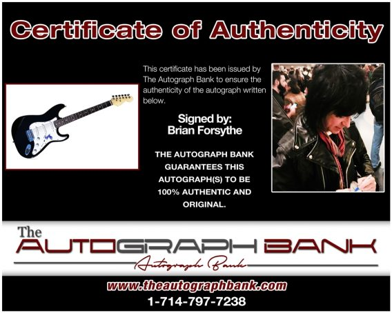 Brian Forsythe proof of signing certificate