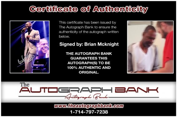 Brian McKnight proof of signing certificate