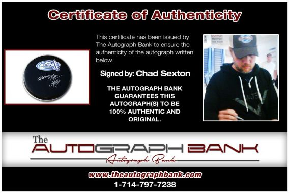 Chad Sexton proof of signing certificate