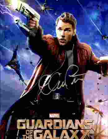 Chris Pratt authentic signed 8x10 picture