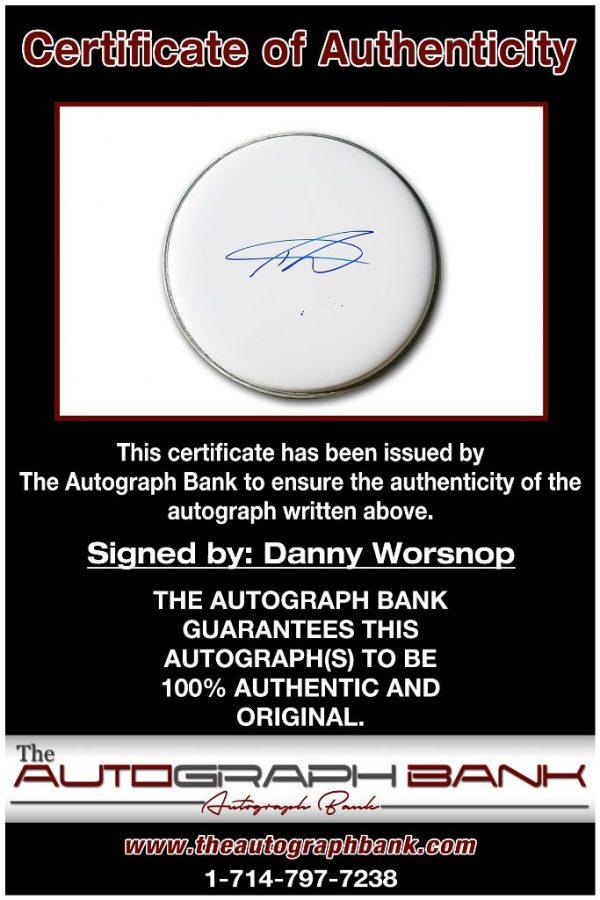 Danny Worsnop proof of signing certificate