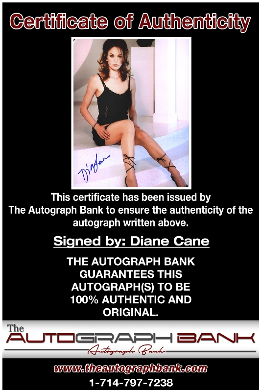 Diane Cane proof of signing certificate