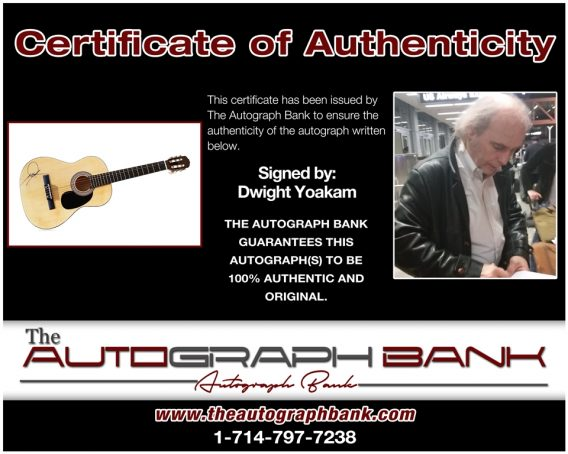 Dwight Yoakam proof of signing certificate