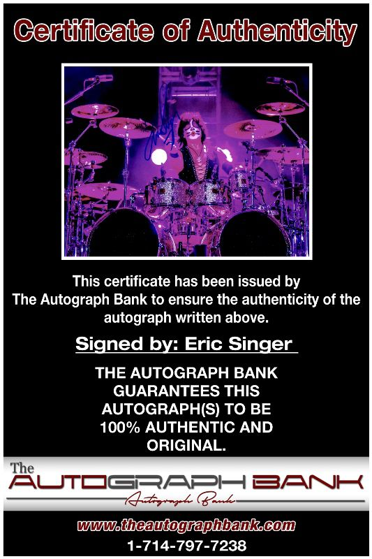Eric Singer proof of signing certificate