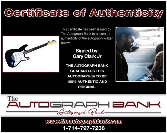 Gary Clark proof of signing certificate