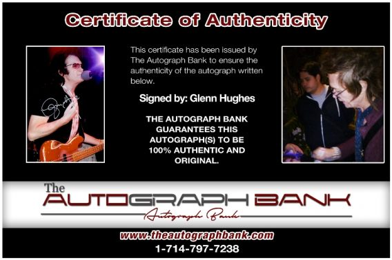 Glenn Hughes proof of signing certificate