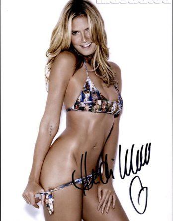Heidi Klum authentic signed 8x10 picture
