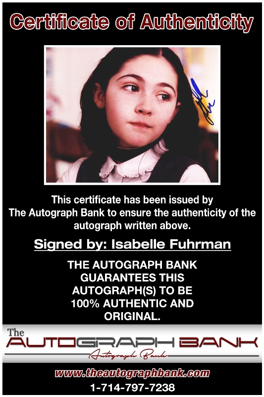Isabelle Fuhrman proof of signing certificate