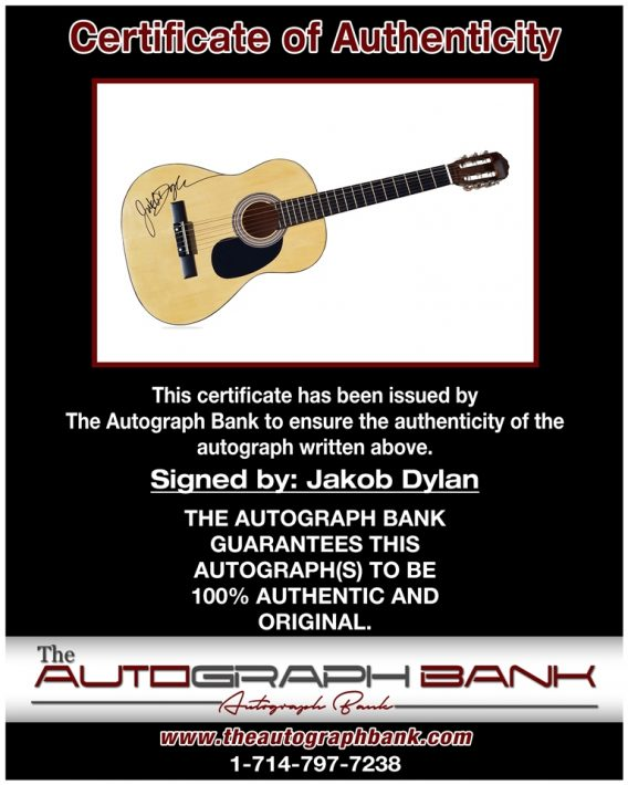 Jakob Dylan proof of signing certificate