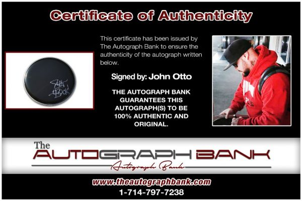 John Otto proof of signing certificate