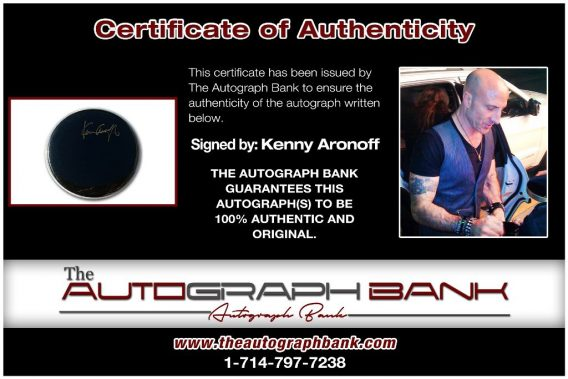 Kenny Aronoff proof of signing certificate