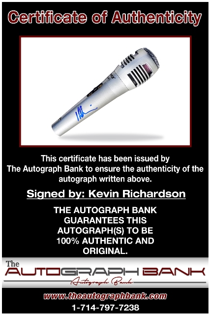 Kevin Richardson proof of signing certificate