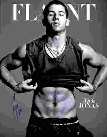 Nick Jonas authentic signed 8x10 picture