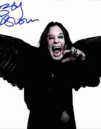 Ozzy Osbourne authentic signed 8x10 picture
