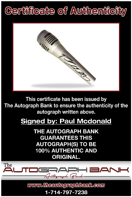 Paul McDonald proof of signing certificate