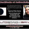 Pete Wentz proof of signing certificate
