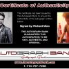 Richard Marx proof of signing certificate