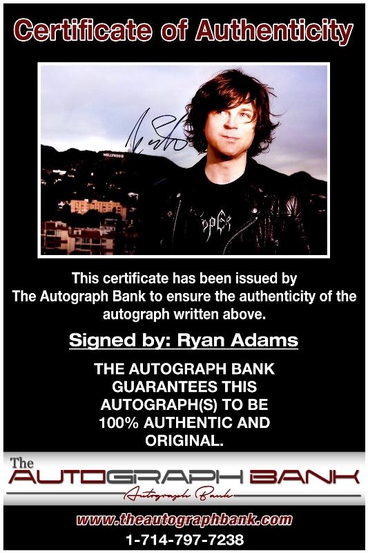 Ryan Adams proof of signing certificate