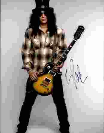 Slash authentic signed 8x10 picture