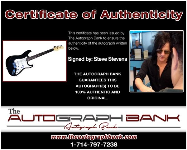 Steve Stevens proof of signing certificate