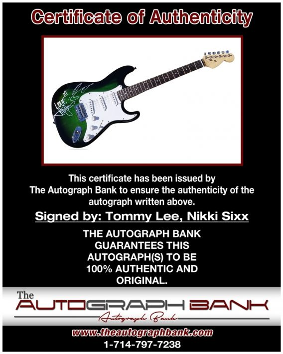 Tommy Lee proof of signing certificate