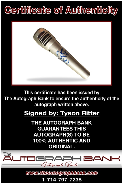 Tyson Ritter proof of signing certificate