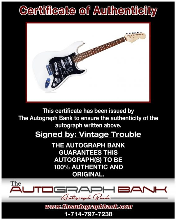 Vintage Trouble proof of signing certificate
