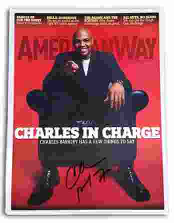Charles Barkley authentic signed 8x10 picture