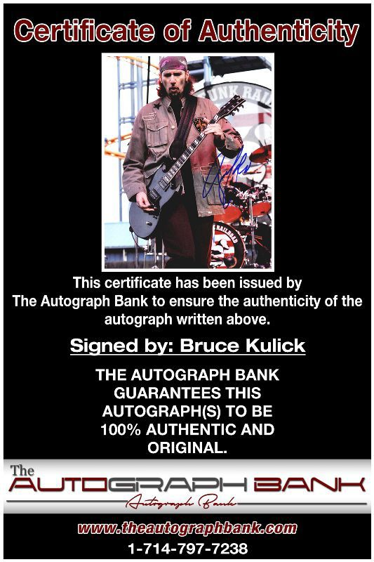 Bruce Kulick proof of signing certificate