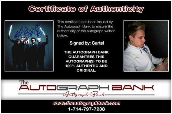 Cartel Band proof of signing certificate