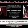 Christina Grimmie proof of signing certificate