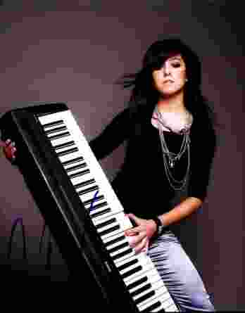 Christina Grimmie authentic signed 8x10 picture