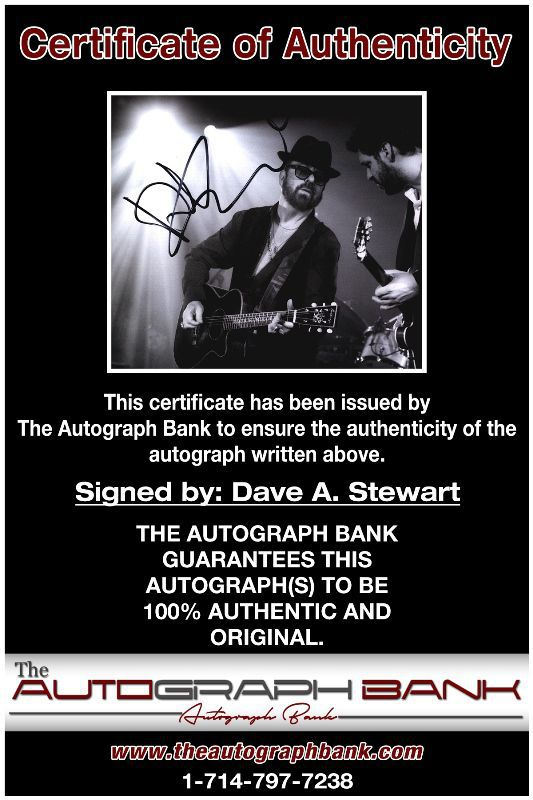 Dave A Stewart proof of signing certificate