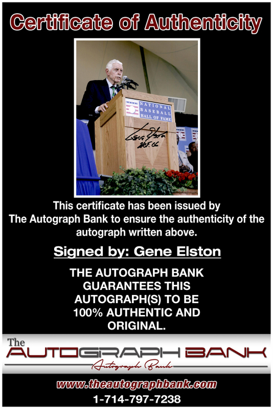 Gene Elston proof of signing certificate