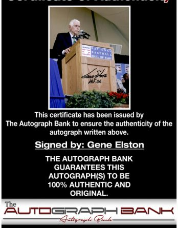 Gene Elston authentic signed 8x10 picture