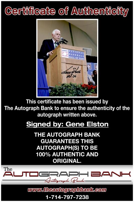 Gene Elston authentic signed 8x10 picture