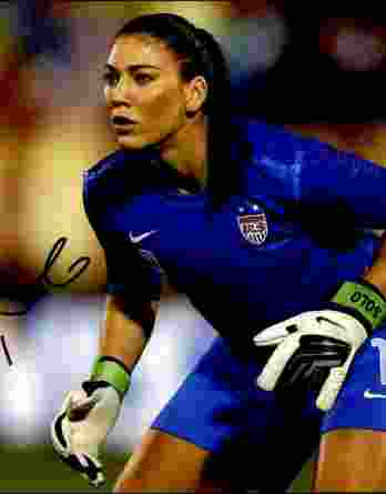 Hope Solo authentic signed 8x10 picture