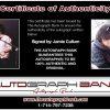 Jamie Cullum proof of signing certificate