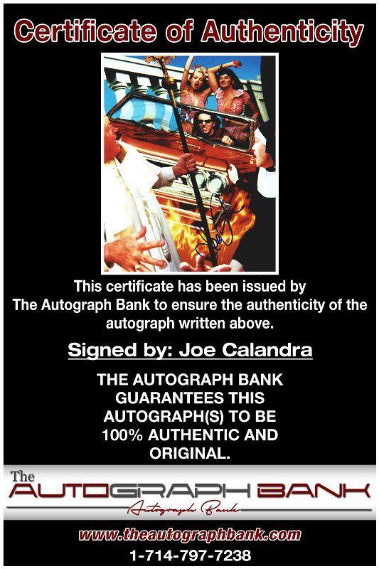 Joe Calandra proof of signing certificate
