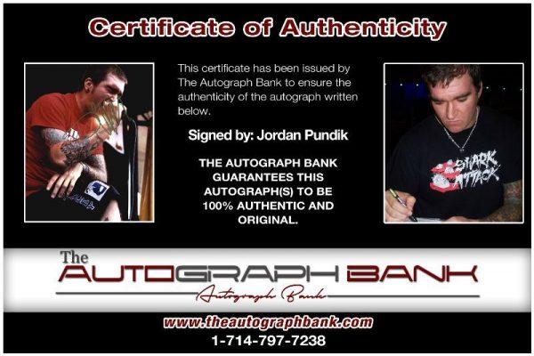 Jordan Pundik proof of signing certificate