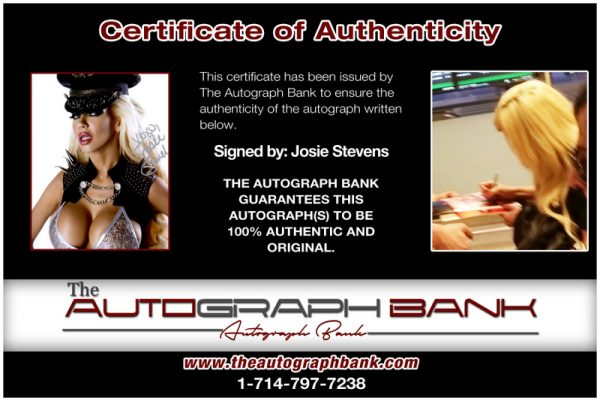 Josie Stevens proof of signing certificate