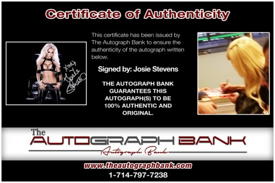 Josie Stevens proof of signing certificate