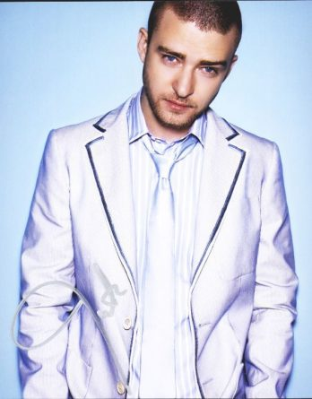 Justin Timberlake authentic signed 8x10 picture